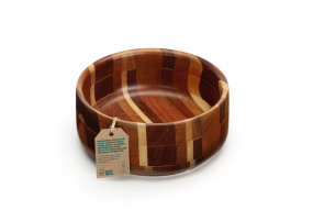 FSC label 100% FFAF wooden bowl