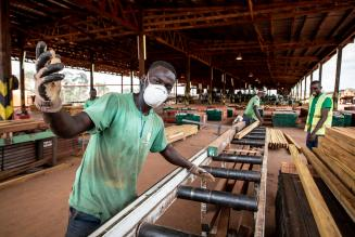 worker in gabon