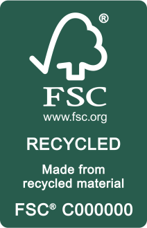 FSC Label RECYCLED White on Green
